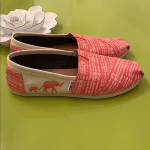 TOMS Pink Elephant Shoes